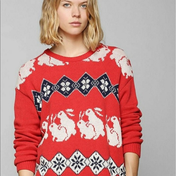 Urban Outfitters Ugly Christmas Sweater.Ugly Christmas Sweater Bunny Humping Rabbit Sex